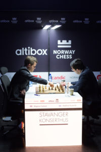 Magnus Carlsen and Maxime Vachier-Lagrave