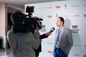 Veselin Topalov getting interviewed